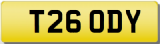 CODY T Private Registration Cherished Number Plate inc TRANSFER FEES